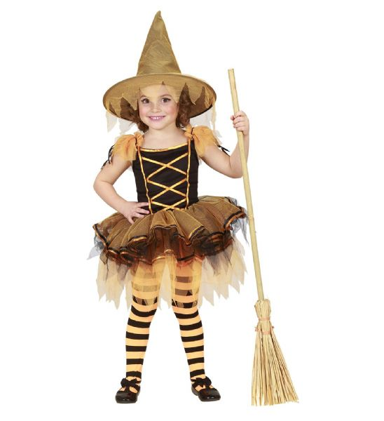Toddler Ballerina Witch Costume Halloween Fancy Dress